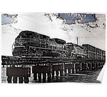 train crossing over water Poster