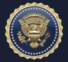 Presidential Service Badge - PSB 3D on Blue Velvet Kids Clothes