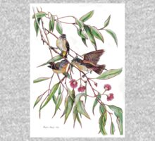 Spotted Pardalotes on Pink Flowering Gum Kids Clothes
