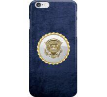 Vice Presidential Service Badge 3D on Blue Velvet iPhone Case/Skin