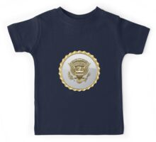 Vice Presidential Service Badge 3D on Blue Velvet Kids Tee