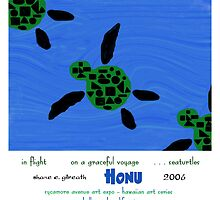 Honu Haiku Art Print by reflekshins