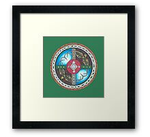 Adventure Awaits Shield Framed Print
