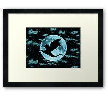 Moonlight Dragon-Smaug Framed Print