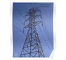 Power Line Tower Poster