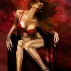 Red Chair - Flirty girl on a chair by hariscizmic