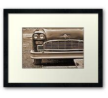 Retro Taxi Framed Print