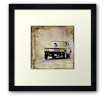 Race? Framed Print