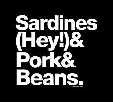 Sardines & Beans Junkyard Chuck Brown Helvetica Ampersand by juk3box
