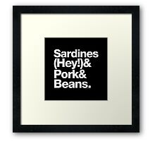 Sardines & Beans Junkyard Chuck Brown Helvetica Ampersand Framed Print
