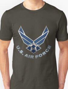 U.S. Air Force - USAF Logo 3D on Red Velvet T-Shirt