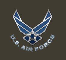 U.S. Air Force - USAF Logo 3D on Red Velvet Unisex T-Shirt