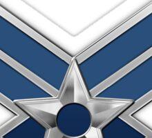 U.S. Air Force - USAF Logo 3D on Red Velvet Sticker