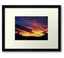 Kalispell Sunset - North Framed Print