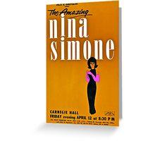 Nina Simone Vintage Concert Bill Graphic Greeting Card