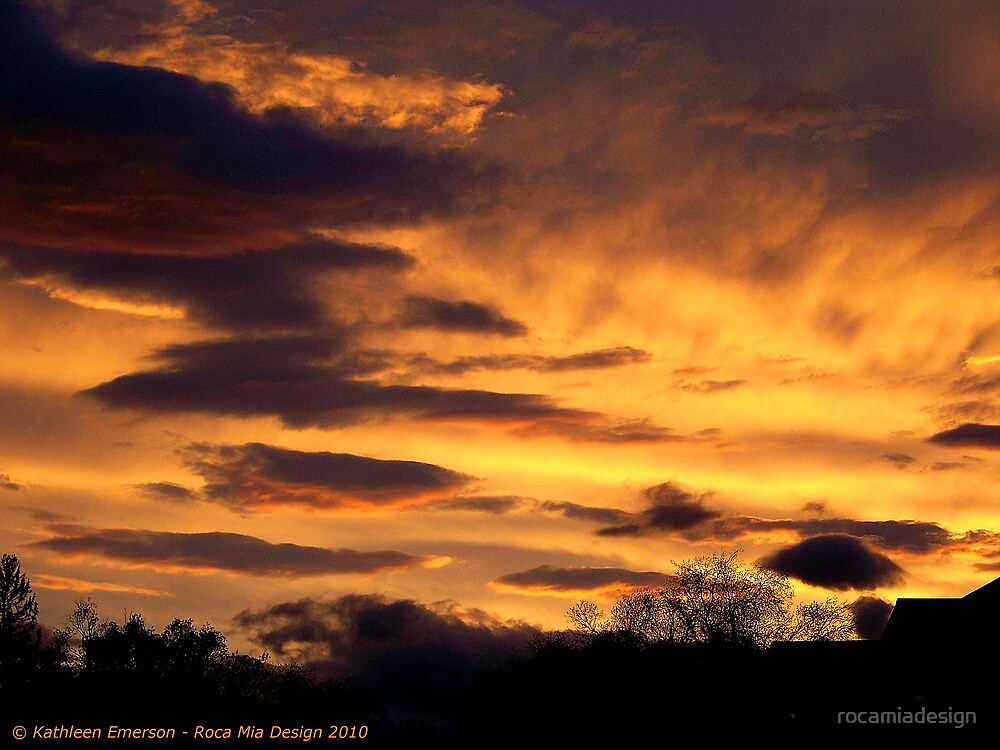 Kalispell Sunset - West by rocamiadesign
