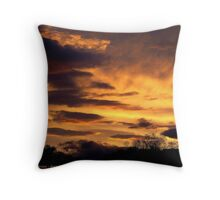 Kalispell Sunset - West Throw Pillow