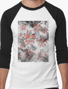 grunge t-shirt design Men's Baseball ¾ T-Shirt