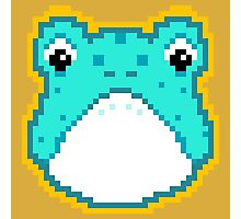 Pixel Frog - Blue Photographic Print