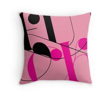 Serenity Now lettering Throw Pillow