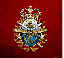 Canadian Forces Emblem 3D by Serge Averbukh