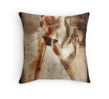 Trojan - a Greek Warrior and a girl Throw Pillow
