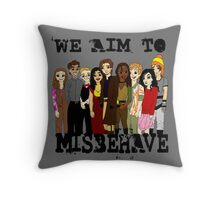 Magically Misbehaved Throw Pillow