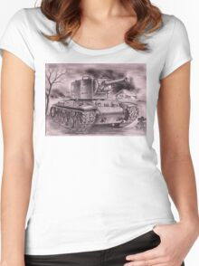 Very Stronk Tenk KV-2 Women's Fitted Scoop T-Shirt