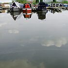 Cloudy Water at Barton Marina by Rod Johnson