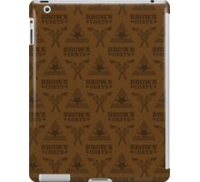 Browncoats forever, Firefly Pattern in Brown iPad Case/Skin