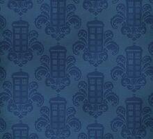 Tardis Damask Pattern by cinderkella