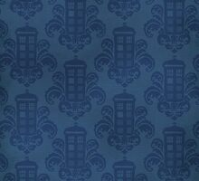 Tardis Damask Pattern by Kelly Street