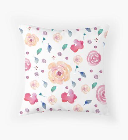 Springtime florals Throw Pillow