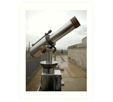 Paris Telescope Art Print