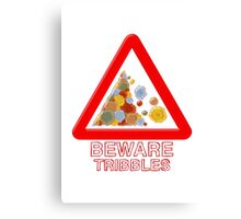 Warning triangle Canvas Print