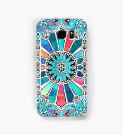 Iridescent Watercolor Brights on White Samsung Galaxy Case/Skin