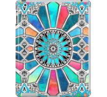 Iridescent Watercolor Brights on White iPad Case/Skin