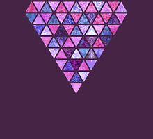 Berry Purples - Triangle Patchwork Pattern Womens Fitted T-Shirt