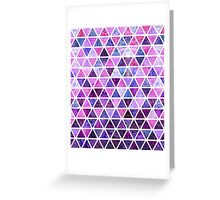 Berry Purples - Triangle Patchwork Pattern Greeting Card