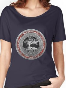 Treasure Trove: Celtic Tree of Life [Silver] Women's Relaxed Fit T-Shirt