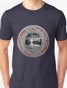 Treasure Trove: Celtic Tree of Life [Silver] Unisex T-Shirt