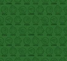Rock, Paper, Scissors, Lizard, Spock Green by cinderkella