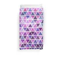 Berry Purples - Triangle Patchwork Pattern Duvet Cover