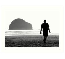 Cornwall: Strolling at the Strand Art Print