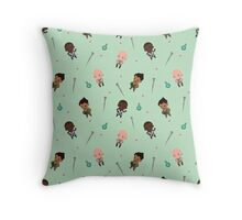 Cute Mage Party Pattern  Throw Pillow