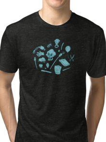 The Curse of Monkey Island Inventory (blue) Tri-blend T-Shirt