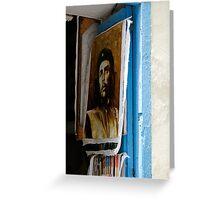 Che Guevara painting, Art shop, Cuba Greeting Card