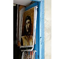 Che Guevara painting, Art shop, Cuba Photographic Print