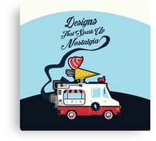 Nuance Retro: Ice Cream Truck Time Machine   Canvas Print