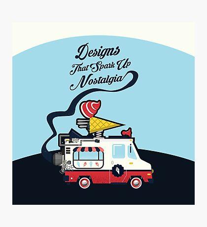Nuance Retro: Ice Cream Truck Time Machine   Photographic Print